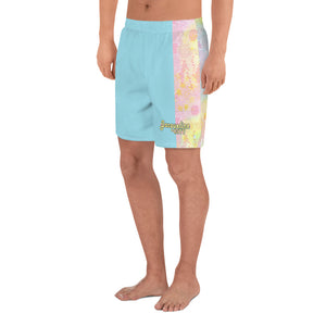 Blue Tie-dye Men's Athletic Shorts