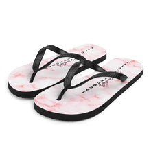 Load image into Gallery viewer, Pink Marble Flip-Flops