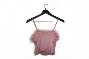 Baby Debora Faux-Fur Crop Top