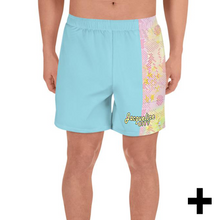 Load image into Gallery viewer, Blue Tie-dye Men's Athletic Shorts