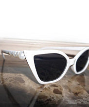 Load image into Gallery viewer, Holly's Faux Pearl-Embellished Sunglasses