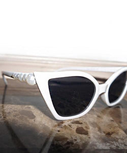 Holly's Faux Pearl-Embellished Sunglasses