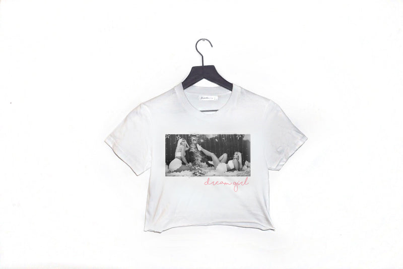 Dream Princess White Cropped Tee