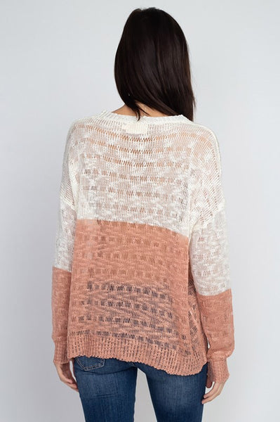 Rosalie Sheer Knit Pullover - Elizabeth's Boutique