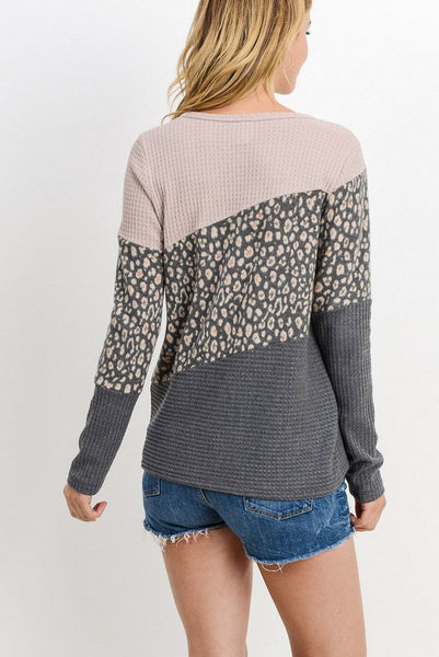 Cheetah Print Sweater Top - Elizabeth's Boutique