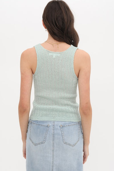 Kelly Tank Top-Mint - Elizabeth's Boutique