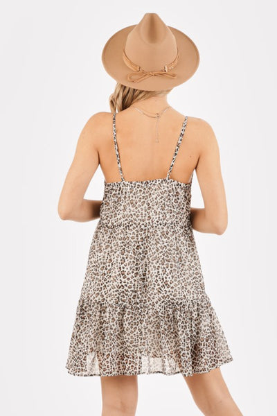 Loving You Animal Print Dress White - Elizabeth's Boutique