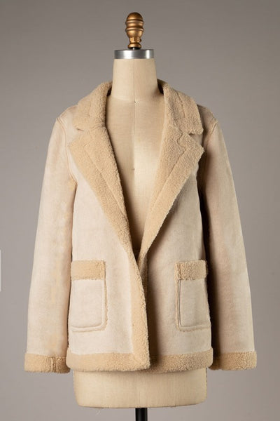 Leading the Way Sherpa Jacket - Elizabeth's Boutique