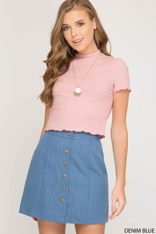 Megan Denim Skirt - Elizabeth's Boutique