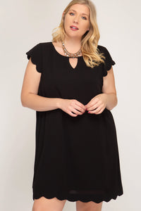 Alicia Black Plus Size Dress - Elizabeth's Boutique
