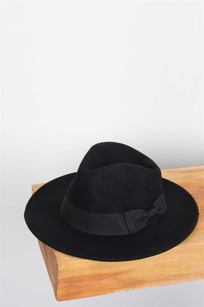 Black Fedora - Elizabeth's Boutique