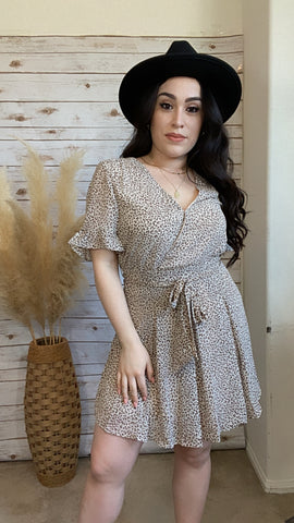 Daytime Romance Animal Print Fit & Flare Mini Dress