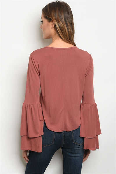 Brooke Long Sleeve Top - Elizabeth's Boutique