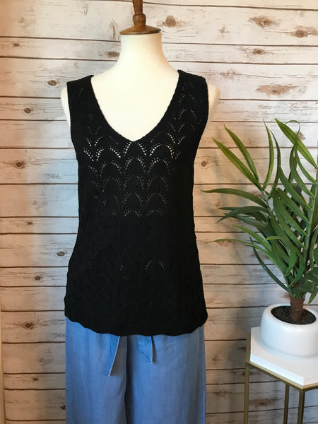 Jimena Knit Tank- Black - Elizabeth's Boutique