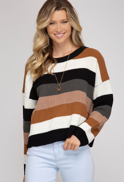 In Love With Fall ColorblockPullover