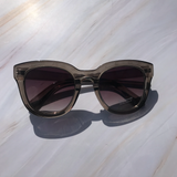 Naomi Sunglasses-Smoked Gray - Elizabeth's Boutique