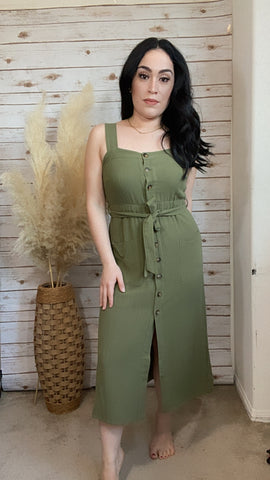 Mia Olive Midi Dress - Elizabeth's Boutique