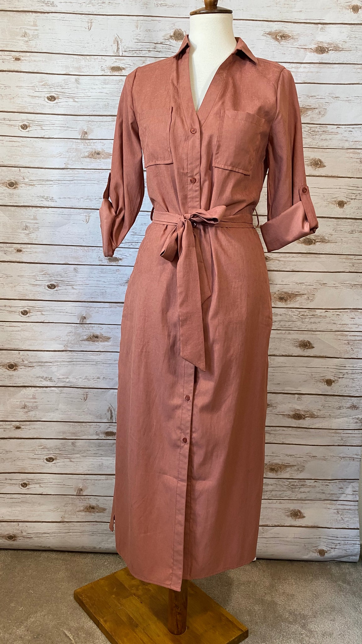 Stephanie Long Line Shirt Dress - Elizabeth's Boutique