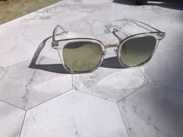 Mia Sunglasses-Clear - Elizabeth's Boutique