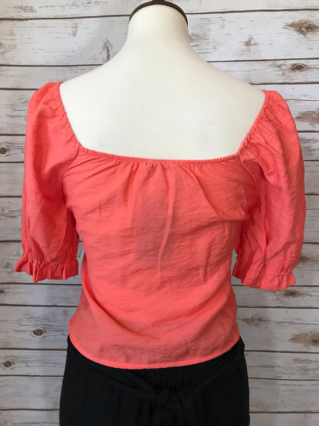 Coral Sweetheart Crop Top - Elizabeth's Boutique