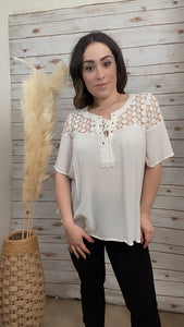 Alexandria White Lace Top - Elizabeth's Boutique