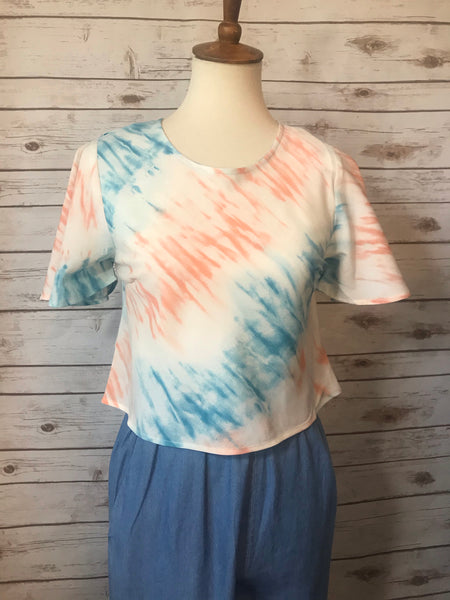 Tie Dye Crop Top - Elizabeth's Boutique