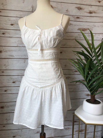 Sharppy White Mini Dress - Elizabeth's Boutique