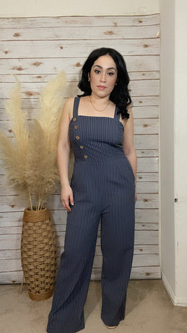 Finley Charcoal Jumpsuit - Elizabeth's Boutique