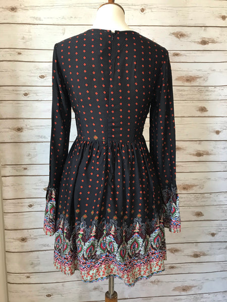 Tina Bohemian Baby Doll Dress - Elizabeth's Boutique