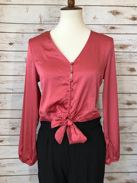 Every Day That I'm In Love With You Satin Top - Elizabeth's Boutique