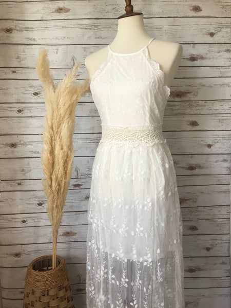 Carol Lace Maxi Dress - Elizabeth's Boutique