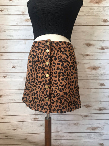 Slay All Day Leopard Animal Print Skirt - Elizabeth's Boutique