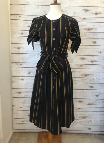 Delilah Striped Button-Down Midi-Dress - Elizabeth's Boutique