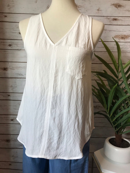 Keily Off White Tank Top - Elizabeth's Boutique