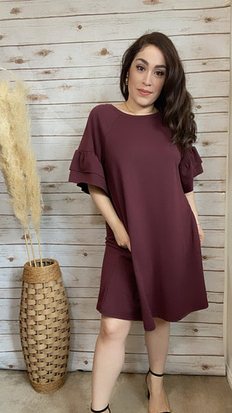 Emery Casual Ruffle Sleeve Tunic - Elizabeth's Boutique
