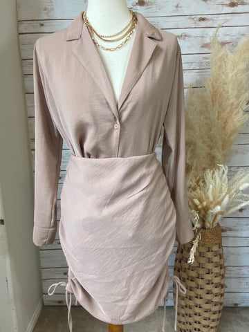 Monica Taupe Two Piece Skirt Set