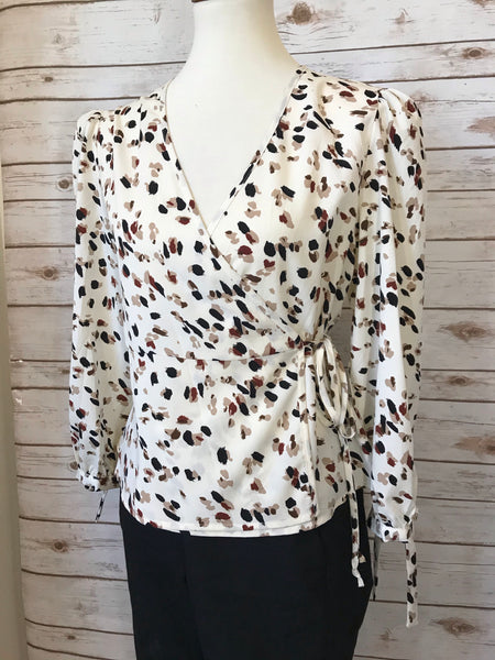 Megan Printed Long Sleeve Blouse - Elizabeth's Boutique
