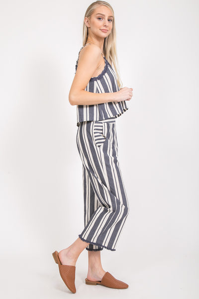 Tarah Striped Two Piece Set - Elizabeth's Boutique
