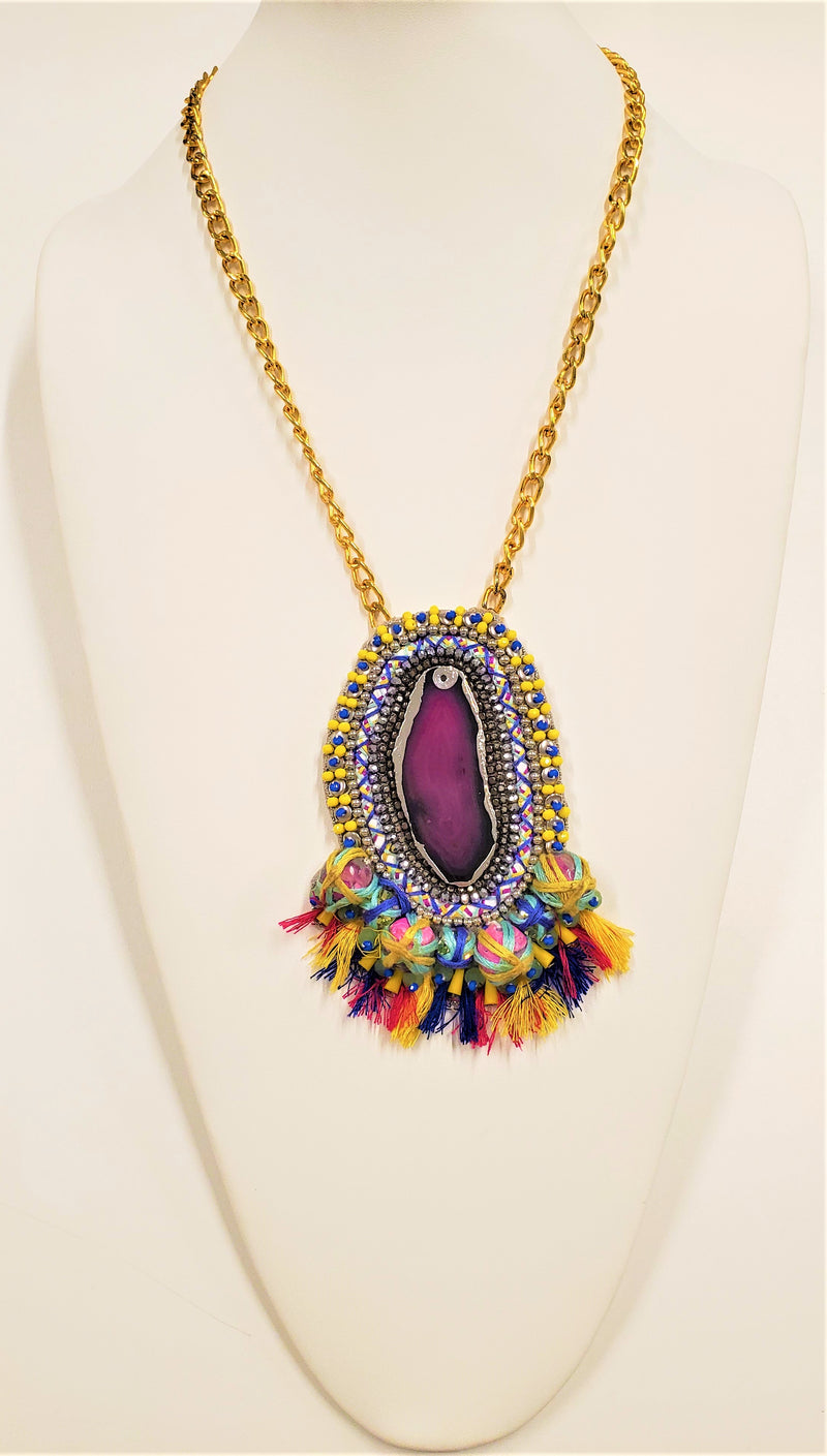 Layla Necklace, Multicolor/Gold