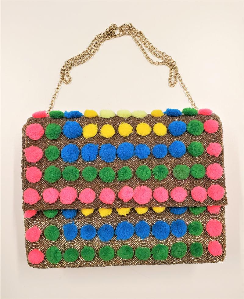 Ruby Bag, Multicolor/Gold