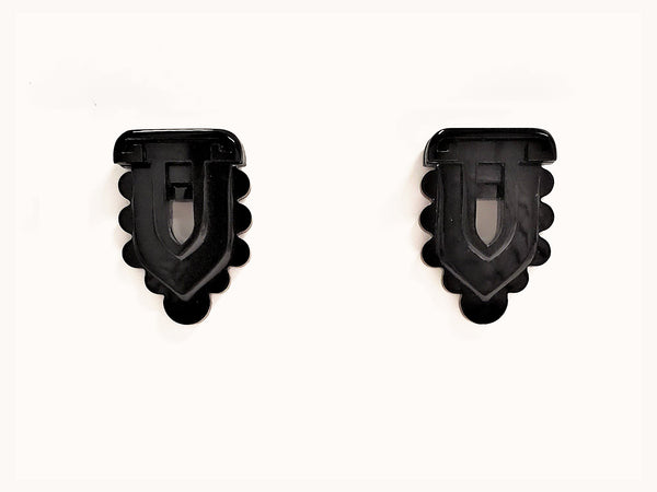 Avery Earrings, Black