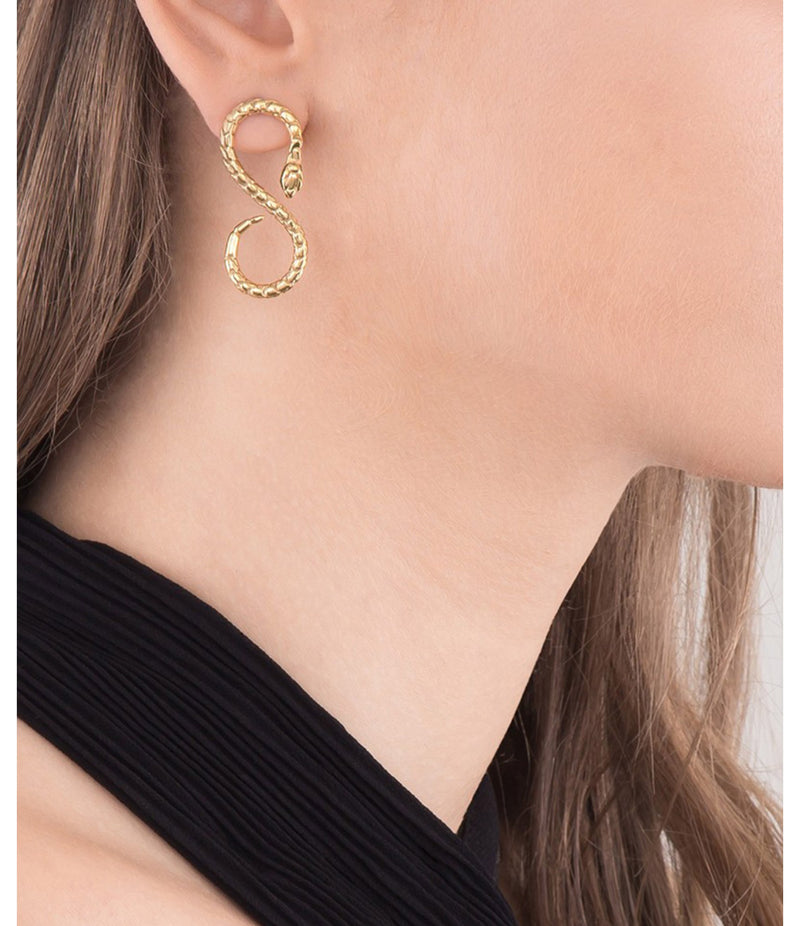 Taylor Earrings, Gold