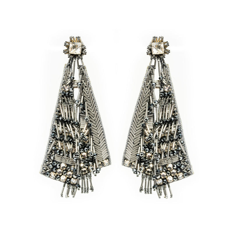 Nadya Earrings, Gunmetal
