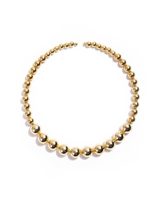Orbe Necklace, Gold