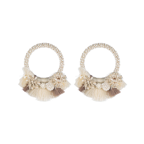Callie Earrings, Ivory