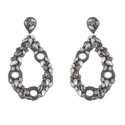 Giana Earrings, Silver