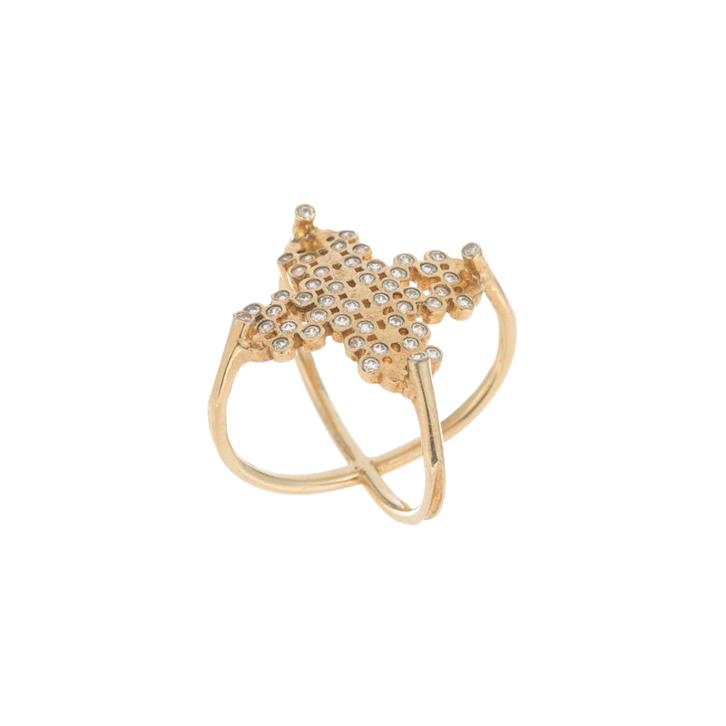 Eleni Ring, Gold/Clear