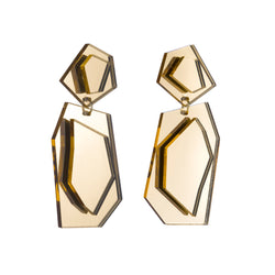 Naomi Earrings, Gold