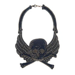 Nour Necklace, Navy