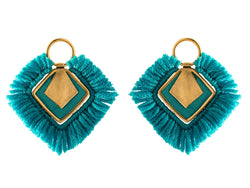 Agneta Earrings, Turquoise